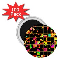 Pieces In Squares 1 75  Magnet (100 Pack)  by LalyLauraFLM