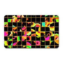 Pieces In Squares Magnet (rectangular) by LalyLauraFLM