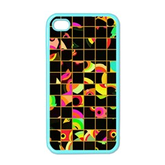 Pieces In Squares Apple Iphone 4 Case (color) by LalyLauraFLM