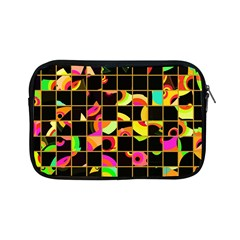 Pieces In Squares Apple Ipad Mini Zipper Case by LalyLauraFLM
