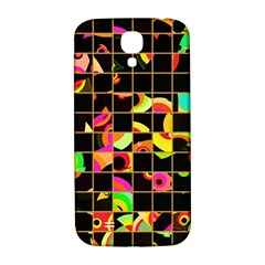 Pieces In Squares Samsung Galaxy S4 I9500/i9505  Hardshell Back Case by LalyLauraFLM