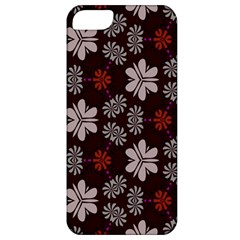 Floral Pattern On A Brown Background Apple Iphone 5 Classic Hardshell Case by LalyLauraFLM