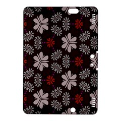 Floral Pattern On A Brown Background	kindle Fire Hdx 8 9  Hardshell Case by LalyLauraFLM