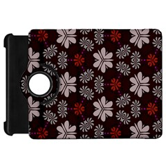 Floral Pattern On A Brown Background	kindle Fire Hd Flip 360 Case by LalyLauraFLM