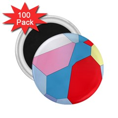Colorful Pastel Shapes 2 25  Magnet (100 Pack)  by LalyLauraFLM