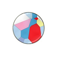 Colorful Pastel Shapes Hat Clip Ball Marker (4 Pack) by LalyLauraFLM