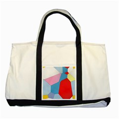 Colorful Pastel Shapes Two Tone Tote Bag by LalyLauraFLM