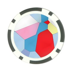 Colorful Pastel Shapes Poker Chip Card Guard by LalyLauraFLM