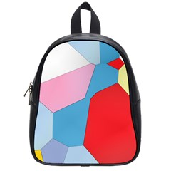 Colorful Pastel Shapes School Bag (small) by LalyLauraFLM