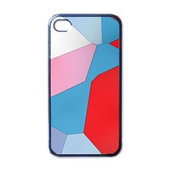 Colorful Pastel Shapes Apple Iphone 4 Case (black) by LalyLauraFLM