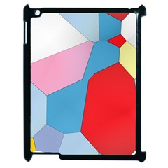 Colorful Pastel Shapes Apple Ipad 2 Case (black) by LalyLauraFLM