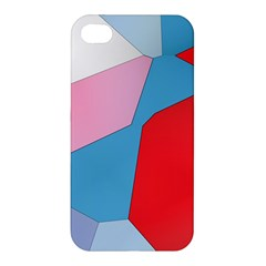 Colorful Pastel Shapes Apple Iphone 4/4s Hardshell Case by LalyLauraFLM
