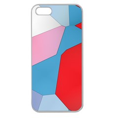 Colorful Pastel Shapes Apple Seamless Iphone 5 Case (clear) by LalyLauraFLM