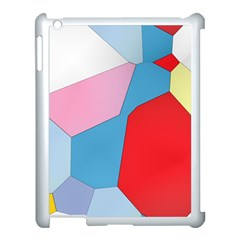 Colorful Pastel Shapes Apple Ipad 3/4 Case (white) by LalyLauraFLM