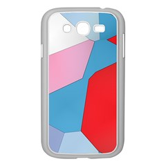 Colorful Pastel Shapes Samsung Galaxy Grand Duos I9082 Case (white) by LalyLauraFLM