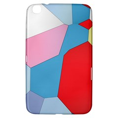 Colorful Pastel Shapes Samsung Galaxy Tab 3 (8 ) T3100 Hardshell Case  by LalyLauraFLM