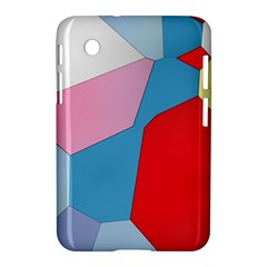 Colorful Pastel Shapes Samsung Galaxy Tab 2 (7 ) P3100 Hardshell Case  by LalyLauraFLM