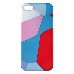 Colorful Pastel Shapes Iphone 5s Premium Hardshell Case by LalyLauraFLM