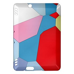 Colorful Pastel Shapes Kindle Fire Hdx Hardshell Case by LalyLauraFLM