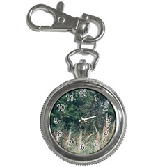 Grass And Trees Nature Pattern Key Chain Watch by ansteybeta