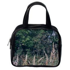 Grass And Trees Nature Pattern Classic Handbag (one Side) by ansteybeta