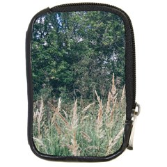 Grass And Trees Nature Pattern Compact Camera Leather Case by ansteybeta