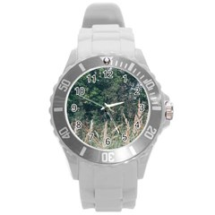 Grass And Trees Nature Pattern Plastic Sport Watch (large) by ansteybeta
