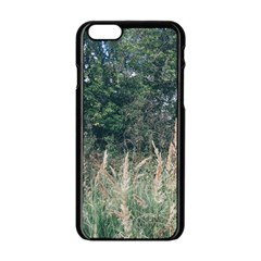 Grass And Trees Nature Pattern Apple Iphone 6 Black Enamel Case by ansteybeta
