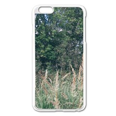Grass And Trees Nature Pattern Apple Iphone 6 Plus Enamel White Case by ansteybeta