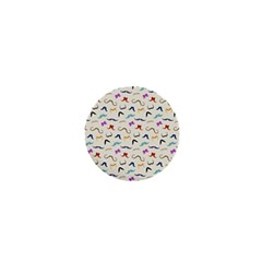 Mustaches 1  Mini Button by boho
