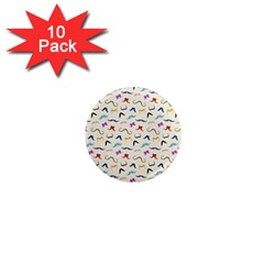 Mustaches 1  Mini Button Magnet (10 pack) by boho