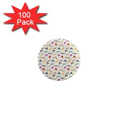 Mustaches 1  Mini Button Magnet (100 Pack) by boho