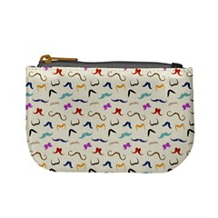 Mustaches Coin Change Purse