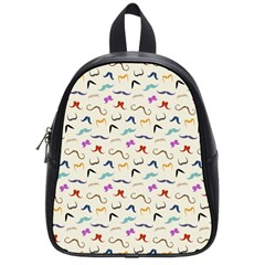 Mustaches School Bag (small)