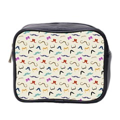Mustaches Mini Travel Toiletry Bag (two Sides) by boho