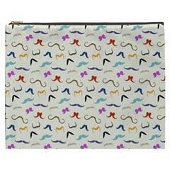 Mustaches Cosmetic Bag (xxxl) by boho