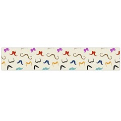 Mustaches Flano Scarf (large) by boho