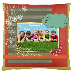 Xmas By Xmas   Large Cushion Case (two Sides)   Qwt1sxe41v3n   Www Artscow Com Front