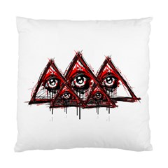 Red White Pyramids Cushion Case (single Sided)  by teeship