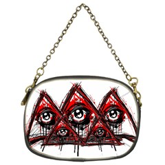 Red White Pyramids Chain Purse (two Sided)  by teeship