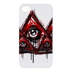 Red White Pyramids Apple Iphone 4/4s Premium Hardshell Case by teeship