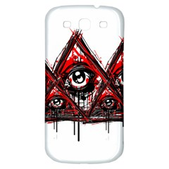 Red White Pyramids Samsung Galaxy S3 S Iii Classic Hardshell Back Case by teeship
