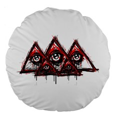 Red White Pyramids Large 18  Premium Flano Round Cushion  by teeship