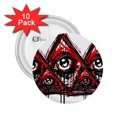 Red White pyramids 2.25  Button (10 pack) by teeship
