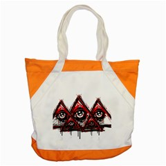 Red White Pyramids Accent Tote Bag by teeship