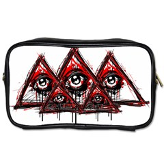 Red White Pyramids Travel Toiletry Bag (two Sides) by teeship