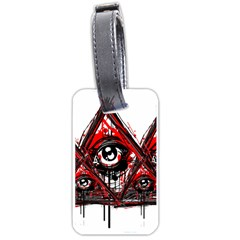 Red White Pyramids Luggage Tag (two Sides) by teeship
