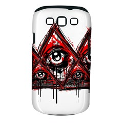 Red White Pyramids Samsung Galaxy S Iii Classic Hardshell Case (pc+silicone) by teeship