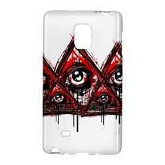 Red White Pyramids Samsung Galaxy Note Edge Hardshell Case