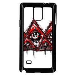 Red White Pyramids Samsung Galaxy Note 4 Case (black) by teeship